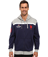 U.S. POLO ASSN. - Color Block Fleece Hooded Jacket