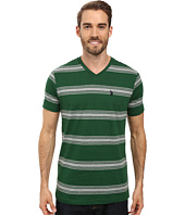 U.S. POLO ASSN. - Balanced Striped V-Neck T-Shirt