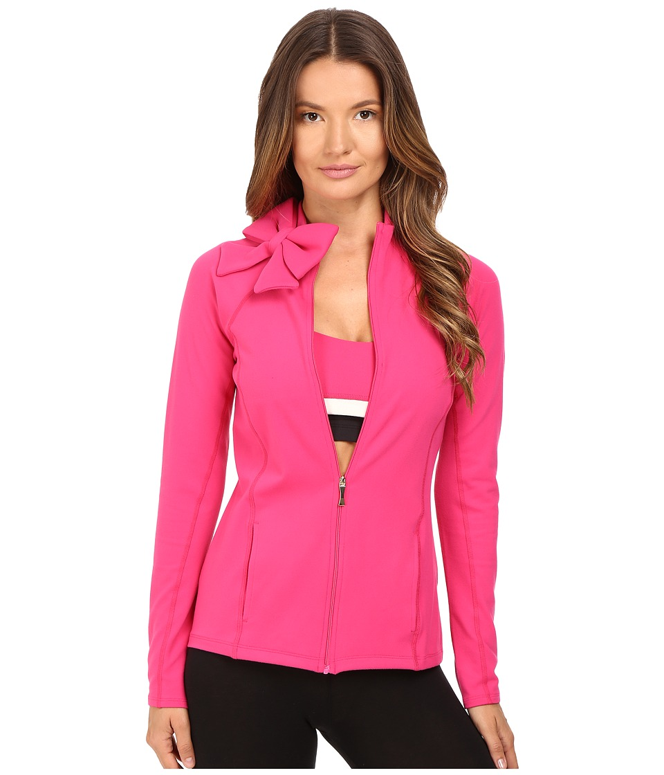 Kate Spade New York x Beyond Yoga Neck Bow Jacket (Deep Carnation) Women