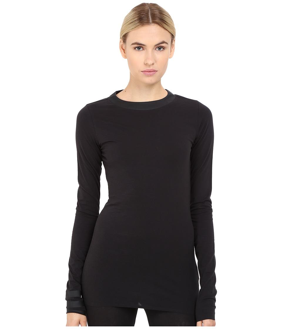 adidas Y-3 by Yohji Yamamoto Jersey Long Sleeve Tee (Black) Women