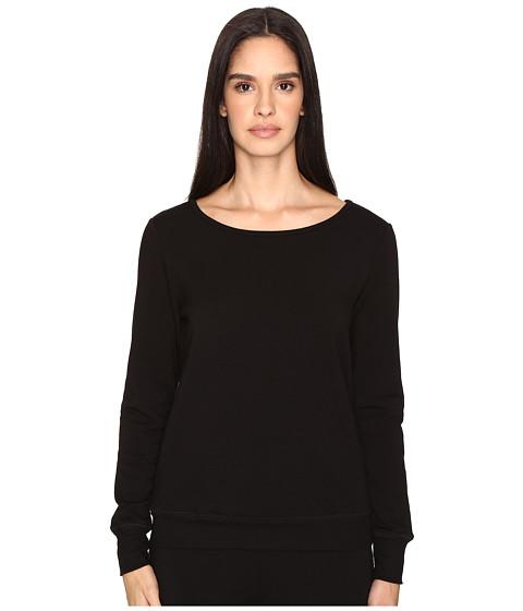 Kate Spade New York x Beyond Yoga Cozy Fleece Bow Pullover - Black
