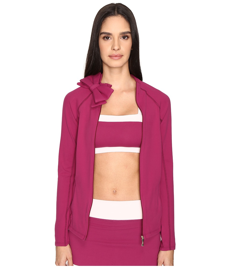 Kate Spade New York x Beyond Yoga Neck Bow Jacket (Zinfandel) Women