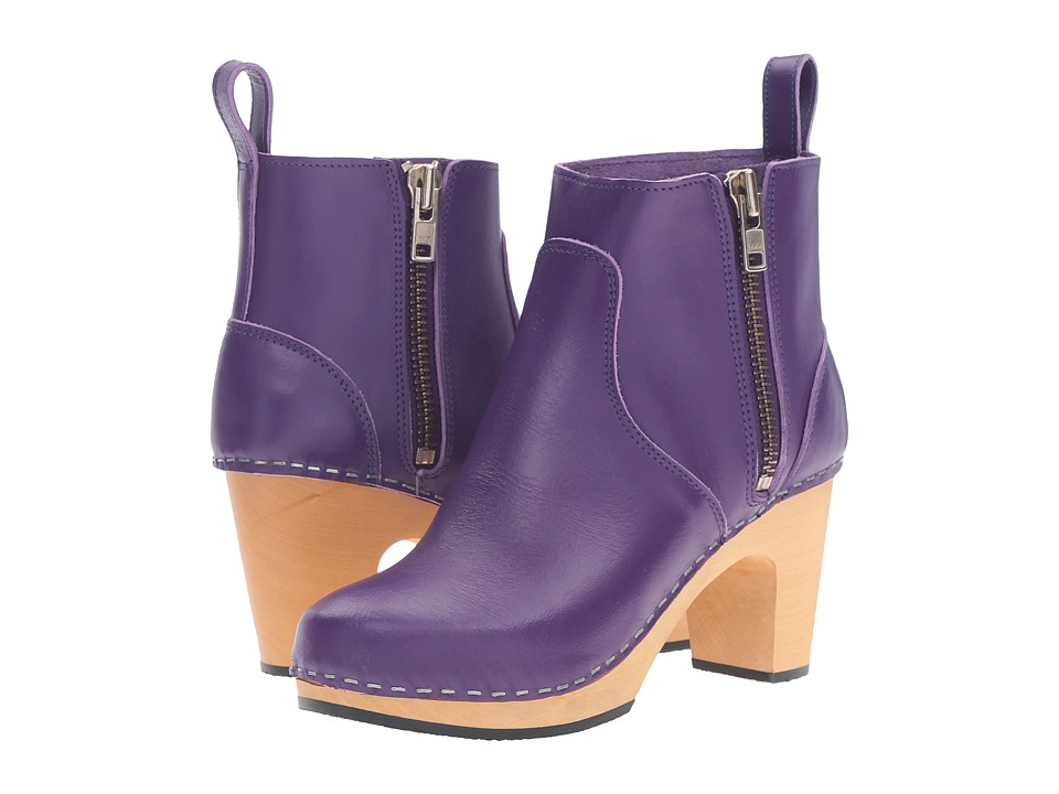 Swedish Hasbeens Zip It Super High (Violet) Women