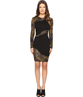 Versace Jeans - Long Sleeve Placed Sheer Dress