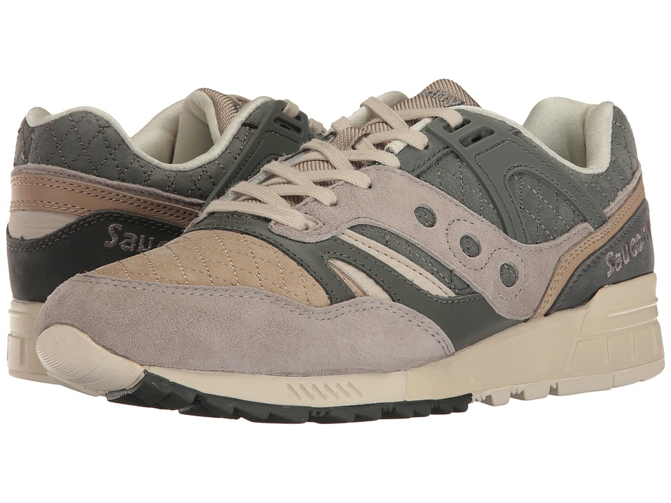 Saucony Originals - Grid SD Quilted (Charcoal/Tan) Mens Classic Shoes