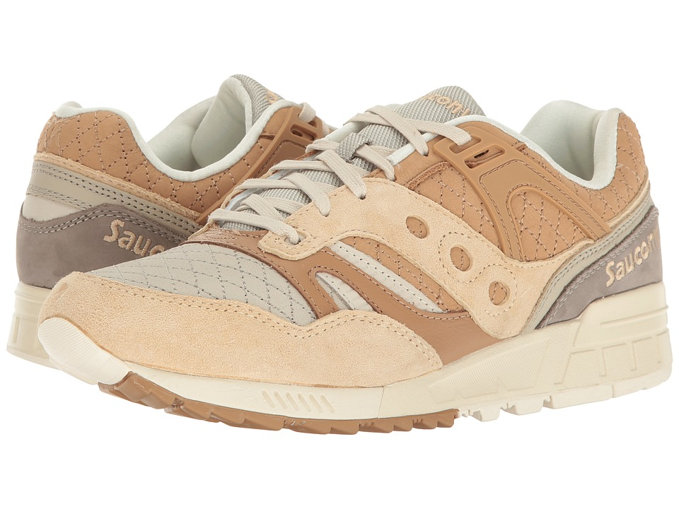Saucony Originals - Grid SD Quilted (Tan/Grey) Mens Classic Shoes