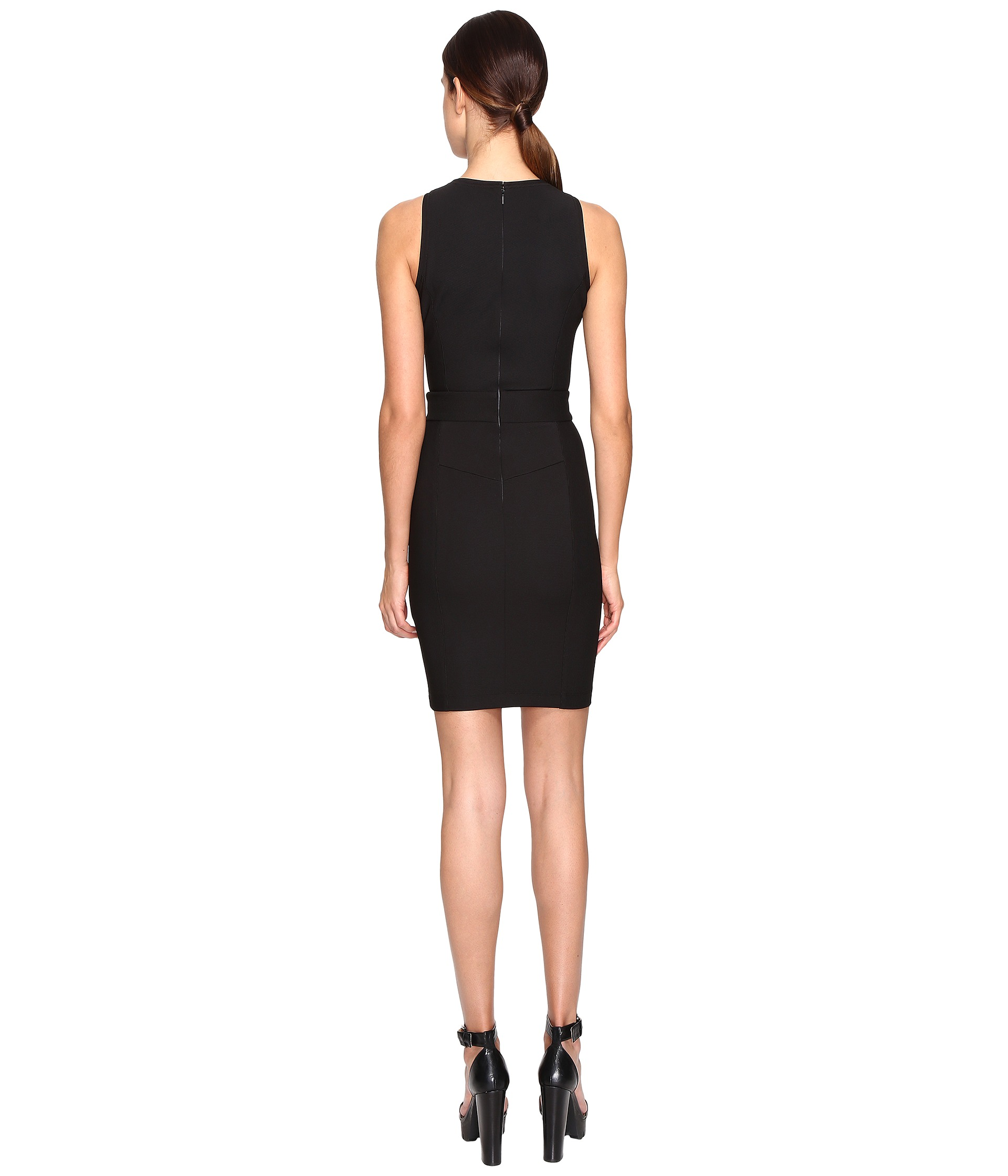 versace sleeveless belted dress at zappos