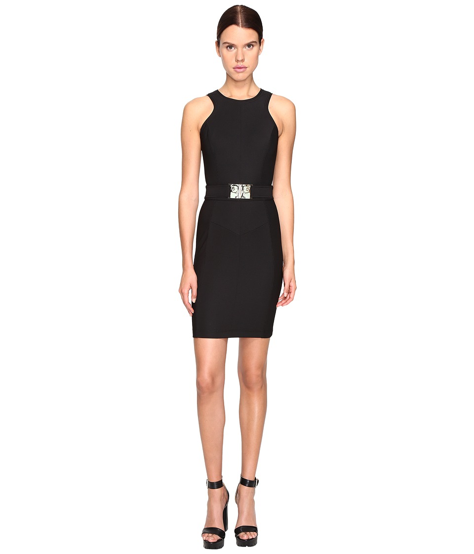Versace Jeans Sleeveless Belted Dress (Nero) Women