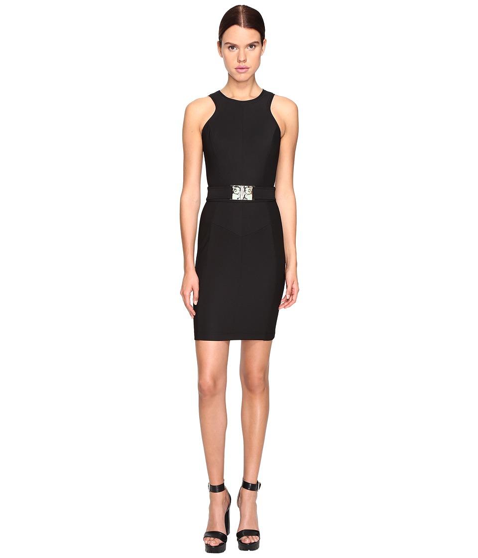 Versace Jeans Sleeveless Belted Dress (Nero) Women