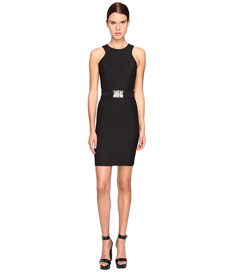 Versace Jeans Sleeveless Belted Dress