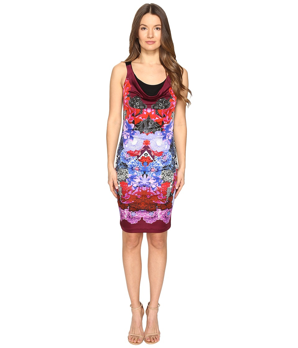 Versace Jeans Sleeveless Printed Dress (Wisteria) Women