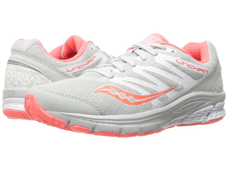Saucony - Linchpin (White/Coral) Womens Shoes
