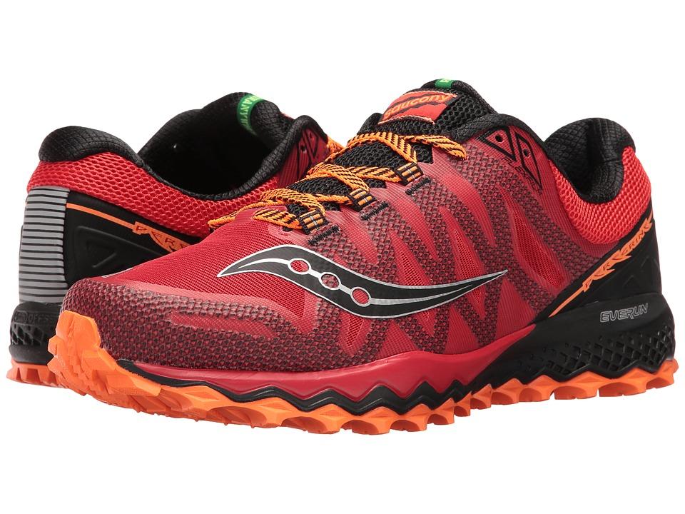 Saucony - Peregrine 7 (Red/Orange/Black) Mens Shoes