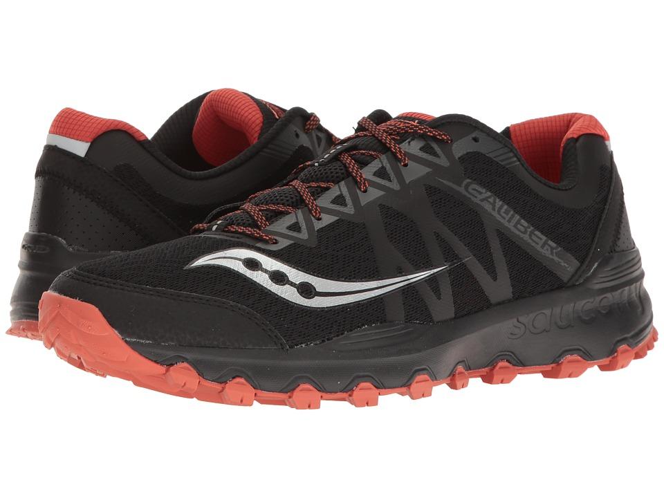 Saucony - Caliber Trail (Black/Grey/Orange) Mens Shoes