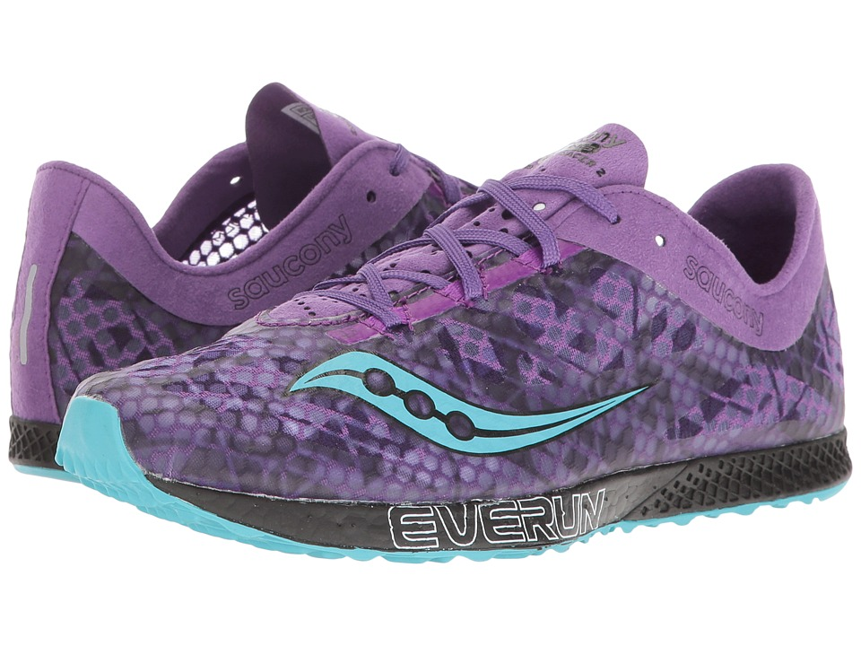 Saucony - Endorphin Racer 2 (Purple/Teal) Womens Shoes