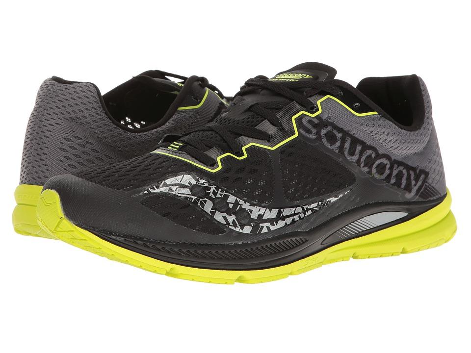 Saucony Fastwitch 8 (Black/Citron) Men's Shoes