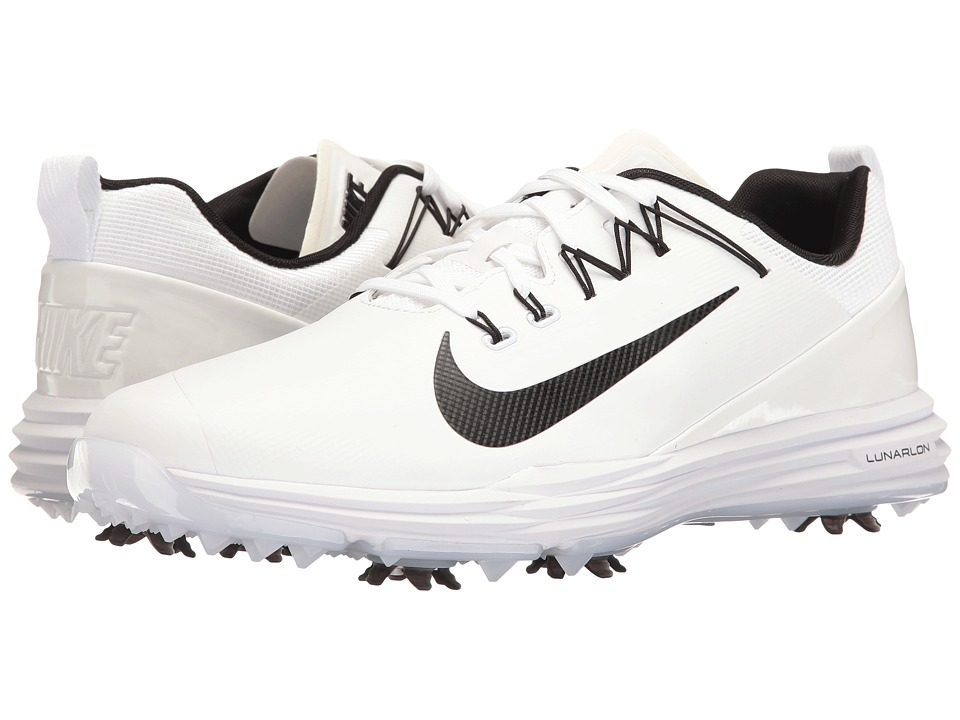Nike Golf - Lunar Command 2 (White/Black/White) Men's Gol...