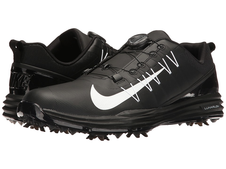 Nike Golf - Lunar Command 2 BOA (Black/White/Black) Men's...