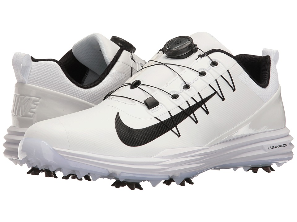 Nike Golf - Lunar Command 2 BOA (White/Black/White) Men's...