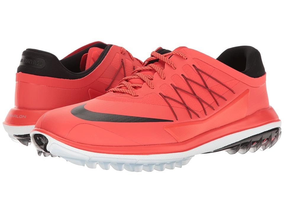 Nike Golf - Lunar Control Vapor (Max Orange/Black/Metallic Summit White) Mens Golf Shoes