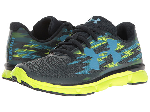 Under Armour Kids UA CF Rebelspeed GR (Little Kid) - Blue Drift/Hi-Vis Yellow/Chicago Blue