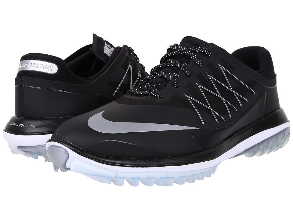 Nike Golf Lunar Control Vapor (Black/Metallic Silver/White) Men