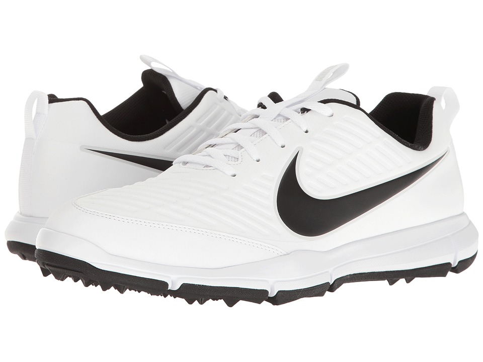 Nike Golf - Explorer 2 (White/White/Pure Platinum/Metallic Silver) Mens Golf Shoes