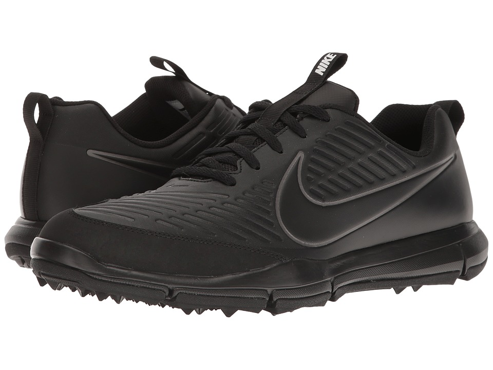 Nike Golf - Explorer 2 (Black/Black/Metallic Dark Grey) Mens Golf Shoes