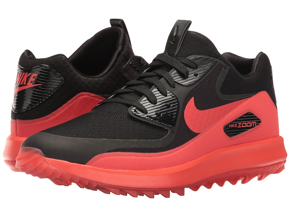Nike Golf - Air Zoom 90 IT (Black/Black/Max Orange) Men's...
