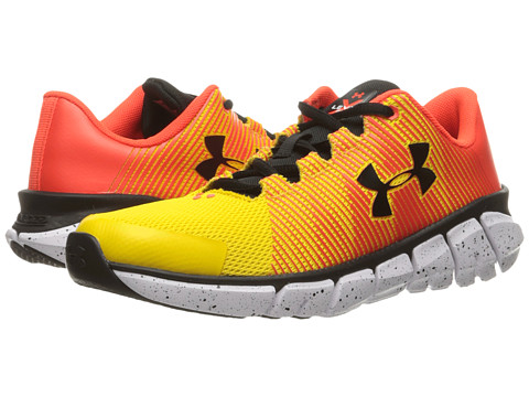 Under Armour Kids UA X Level Scramjet (Big Kid) - Taxi/Phoenix Fire/Black