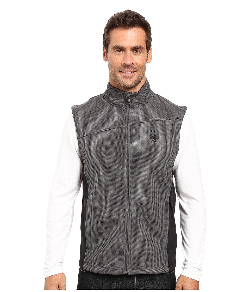 Spyder Constant Mid Weight Core Sweater Vest (Polar/Black 1) Men