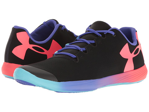 Under Armour Kids UA Street Precision Low OM (Big Kid) - Black/Purple Chic/Sirens Coral