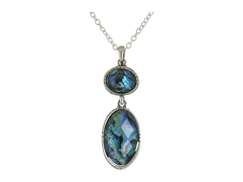 The Sak - Double Stone Pendant Necklace 18 (Abalone) Necklace