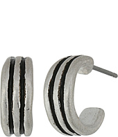 The Sak - Ribbed Baby Hoop Earrings