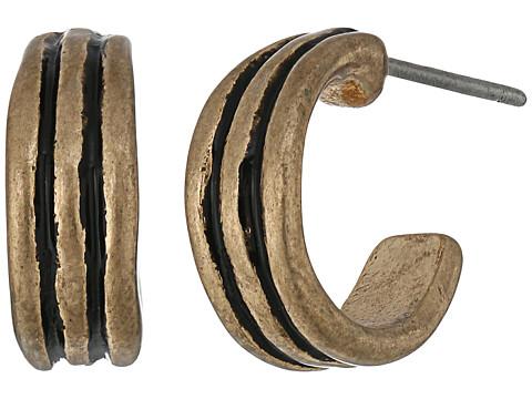 The Sak Ribbed Baby Hoop Earrings - Gold
