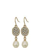 The Sak - Pave Pearl Drop Earrings