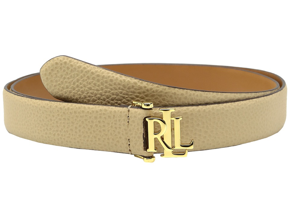 LAUREN Ralph Lauren - 1 1/4 Carrington RLL Signature Monogram Dress Belt on Pebbled Grain Strap