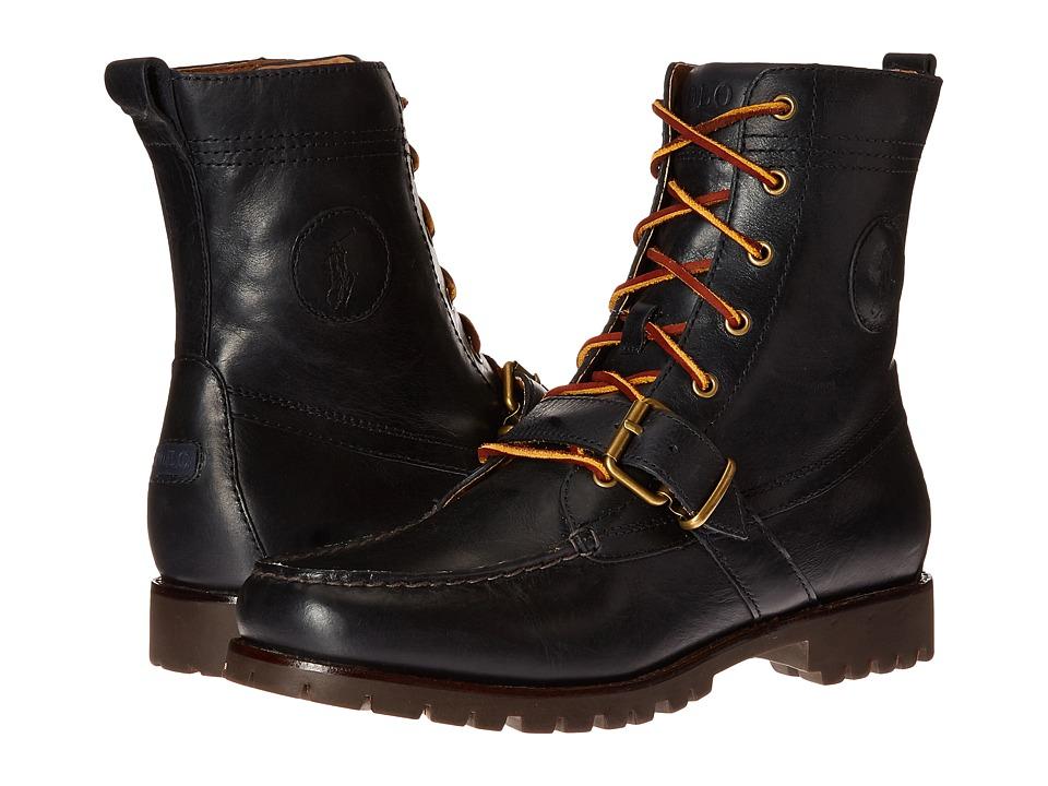 Ralph Lauren Ranger (Newport Navy Smooth Oil Leather) Men...
