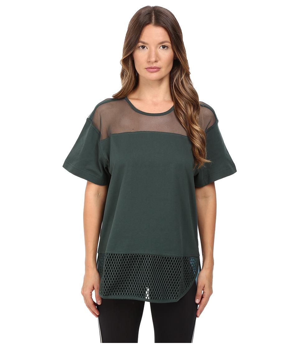 Image of adidas by Stella McCartney - Essentials Mesh Tee AX7107 (Deepest Green) Women's T Shirt