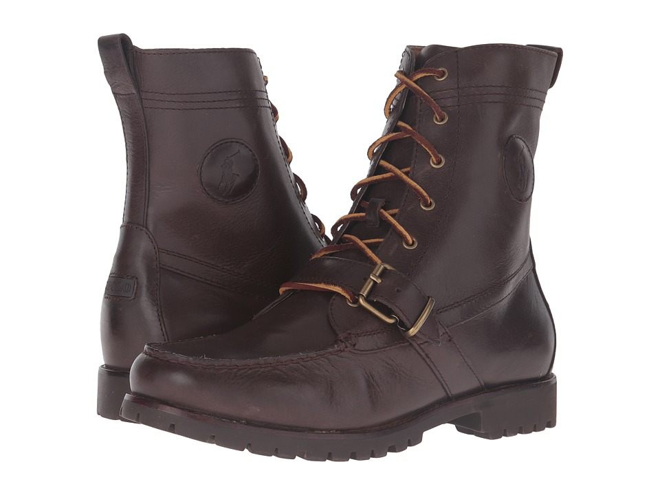 Polo Ralph Lauren - Ranger (Dark Brown Smooth Oil Leather) Men