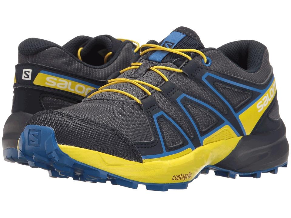 Salomon Kids Speedcross (Little Kid/Big Kid) (Ombre Blue/Sulphur Spring/Nautical Blue) Boys Shoes