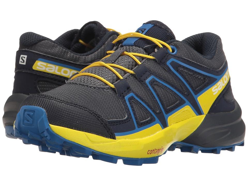 Salomon Kids Speedcross (Toddler/Little Kid) (Ombre Blue/Sulphur Spring/Nautical Blue) Boys Shoes
