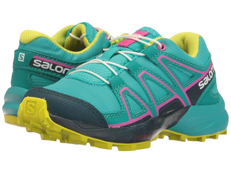 Salomon Kids Speedcross (Toddler/Little Kid) (Ceramic/Reflecting Pond/Lime Punch) Girls Shoes