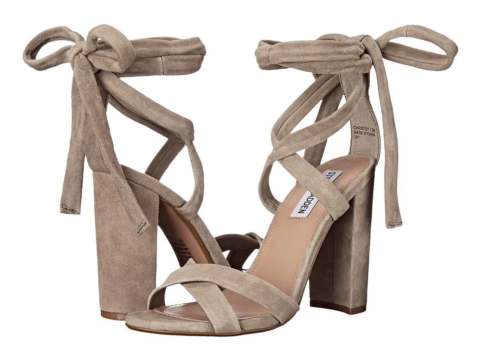 Steve Madden-Christey  (Taupe Suede) Womens Shoes