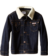 Hudson Kids - Denim Jacket with Sherpa Collar (Toddler/Little Kids)