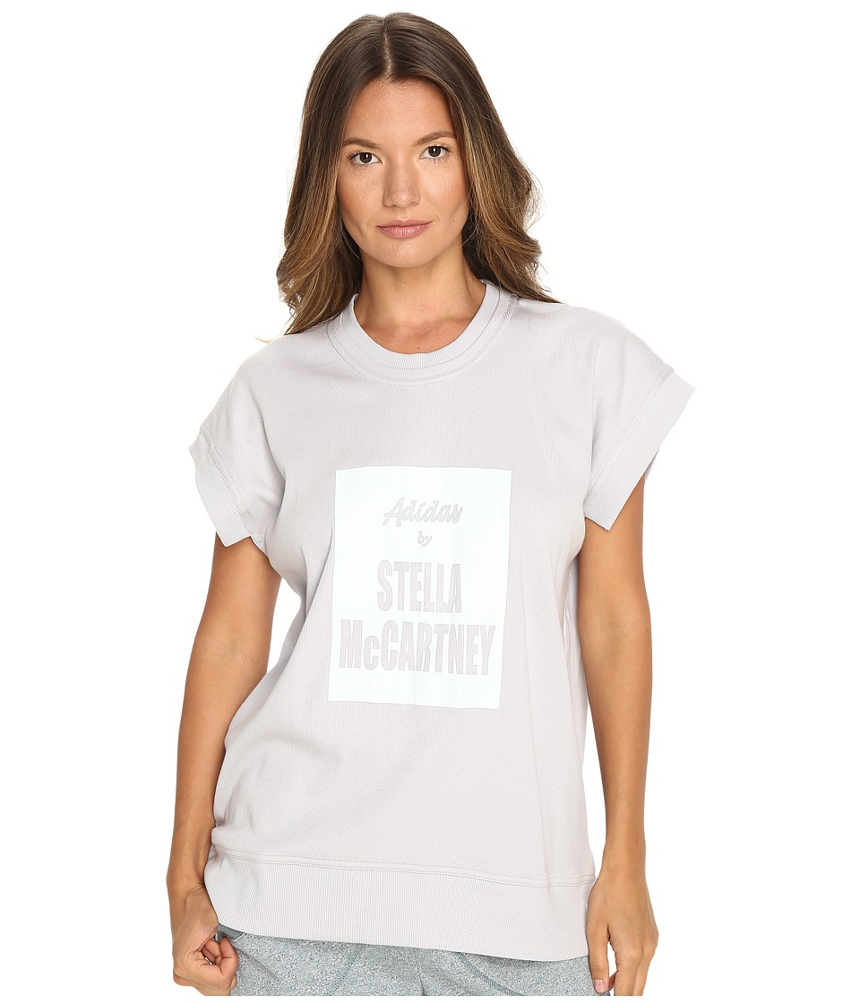 adidas by Stella McCartney Yoga Tee AX7247 (Light Grey Heather Solid Grey) Women