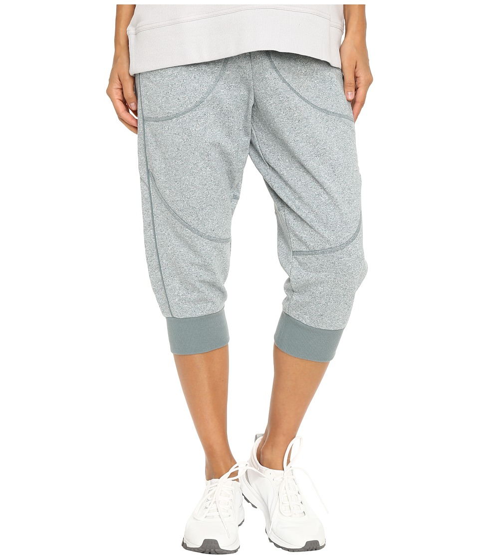 Image of adidas by Stella McCartney - Essentials 3/4 Sweatpants AX7087 (Chalk Blue Melange) Women's Casual Pants