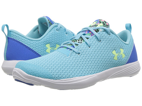 Under Armour Kids UA Street Precision Sport MR (Little Kid) - Venetian Blue/White/Lime Fizz
