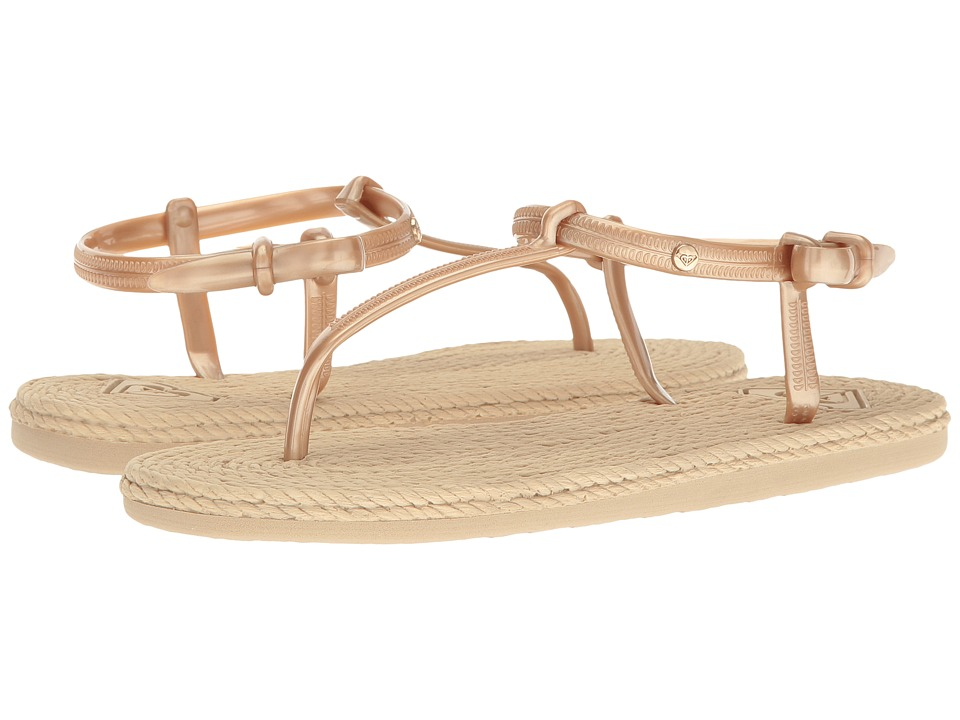 Roxy South Beach T-Strap (Gold) Women