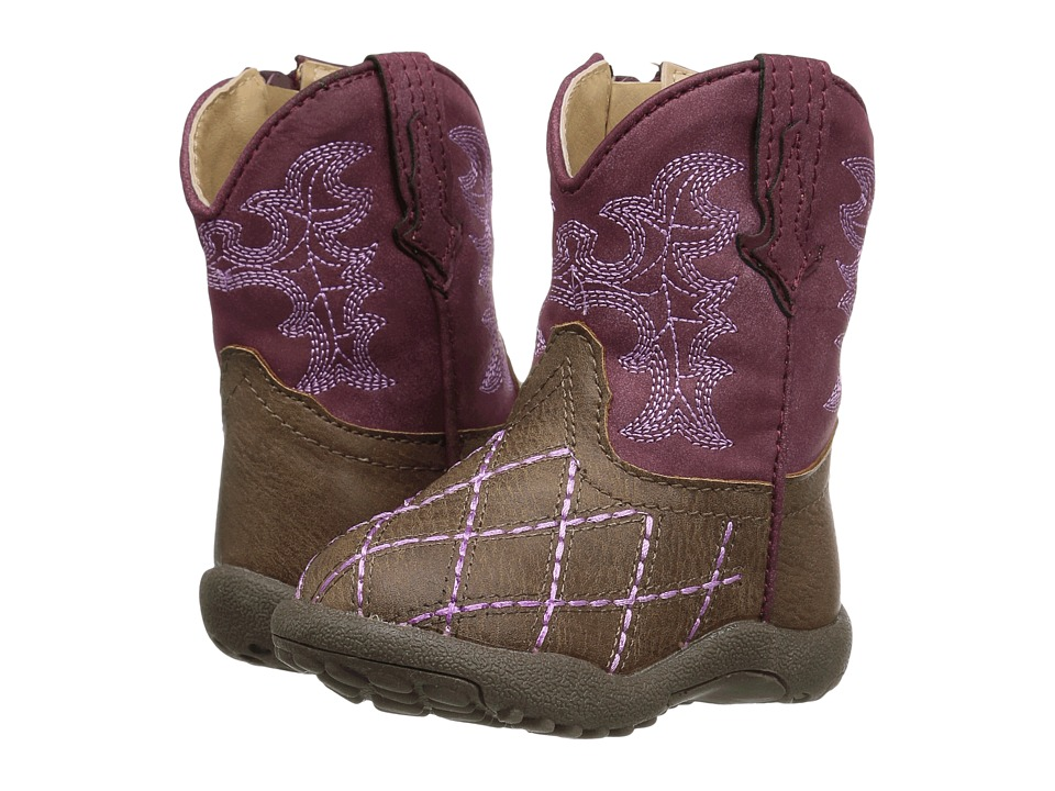 Roper Kids - Cross Cut (Infant/Toddler) (Brown Faux Leath...